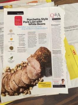 Porchetta-style pork
